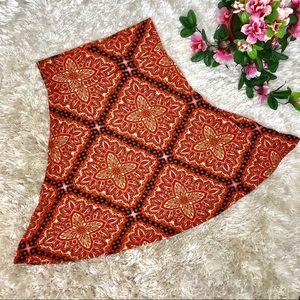 LuLaRoe Azure vibrant Orange Skirt Large EUC